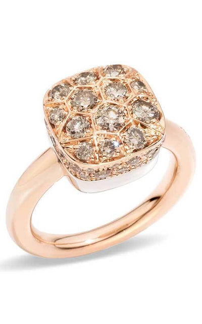 Pomellato Nudo Ring Rose Gold and Diamonds (A.B704GO6/BR)