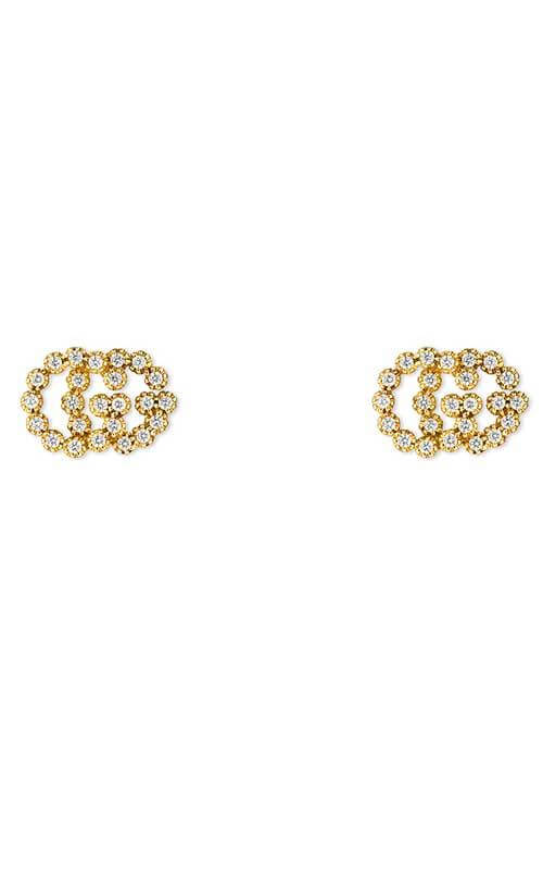 190a2b76d06 Gucci Running G Stud Earrings Yellow Gold and Diamond (YBD48167600100U)