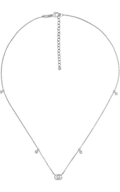 Gucci Running G Necklace White Gold Diamonds YBB47923100100U Bandiera