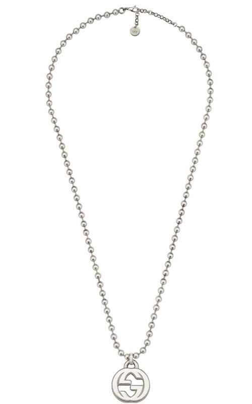 15fdfbe784705d Gucci Interlocking G Necklace Large Sterling Silver (YBB47921700100U ...