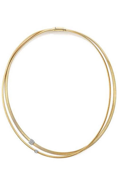 Marco Bicego Masai Necklace Yellow Gold and Diamond (CG732 B)