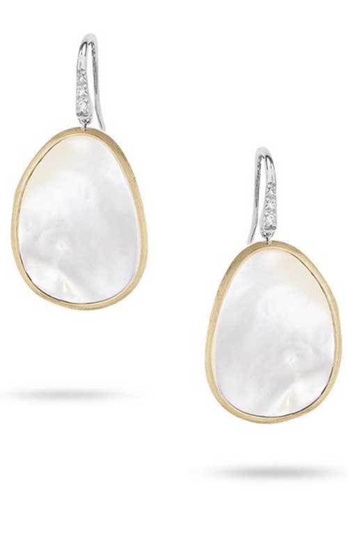 4eb550ee581d5d Marco Bicego Lunaria Earrings Yellow Gold, White Mother of Pearl and Diamond  (OB1343 AB