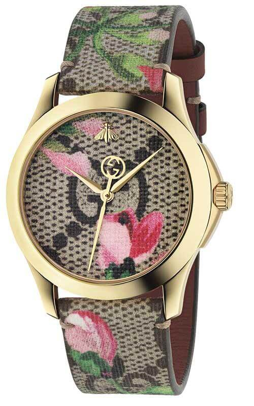 be3cd980ad1 Gucci G-Timeless Pink Blooms Ladies Watch (YA1264038)