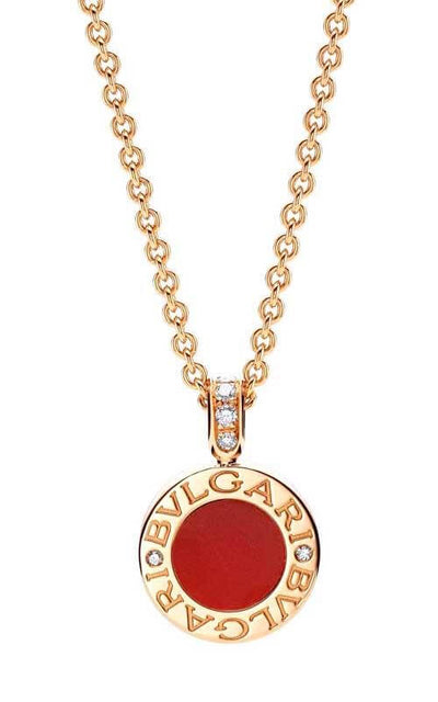 Bulgari Bulgari-Bulgari Necklace  Carnelian & Mother-of-Pearl (352883) | Bandiera Jewellers Toronto