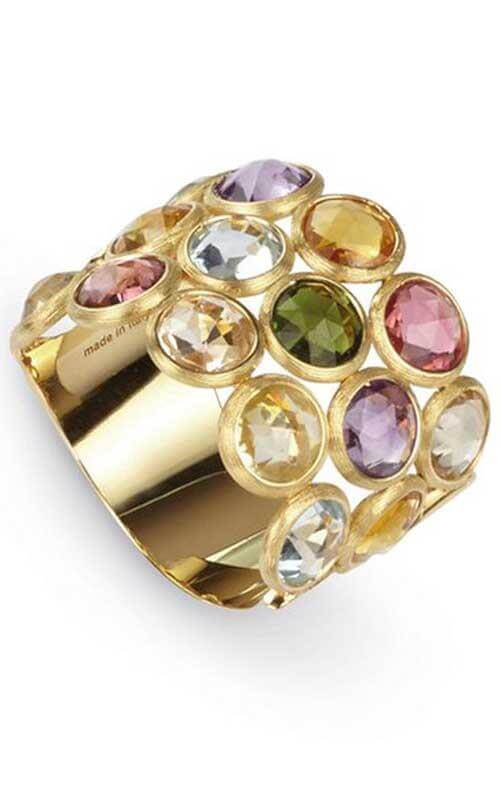 0b2d953d70d Marco Bicego Jaipur Color Collection 3 Row Mixed Gemstones Gold Ring (AB463  MIXO1 Y 02)