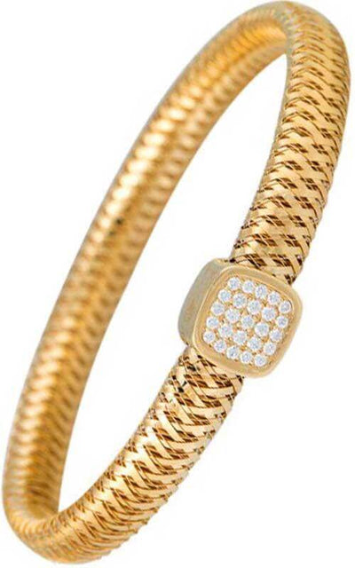 Roberto Coin 18k Gold Primavera Bangle 5574019AYBAX Bandiera Jewellers