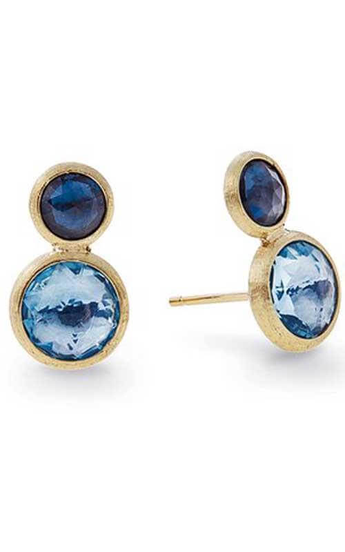 a5ab0cbfe5a Marco Bicego Jaipur Gold and Mixed Blue Topaz 2-toned Stud Earrings (OB1518  MIX725