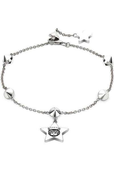Gucci Blind For Love Star Aureco Silver Bracelet YBA502168001017
