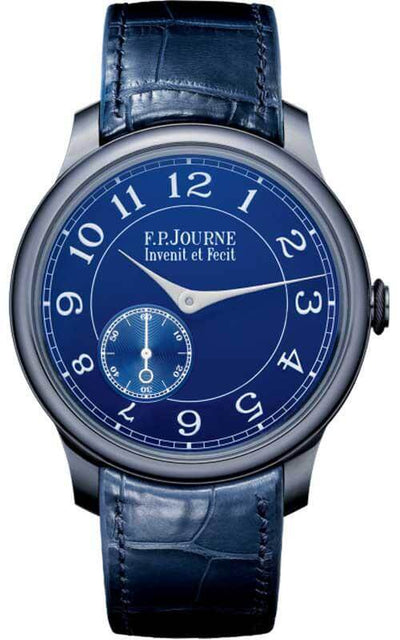 F.P. Journe Sovereign Chronometer Blue Mens Watch (CB-393000-145403.A) | Bandiera Jewellers Toronto