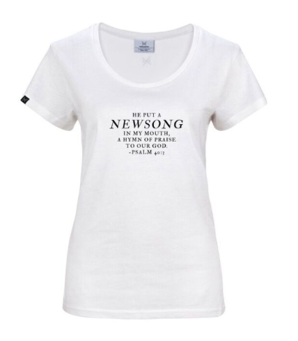 HE PUT A NEWSONG - LADIES TEE