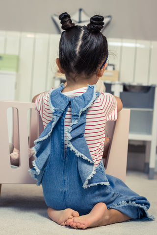Two-piece Denim Jumpsuit