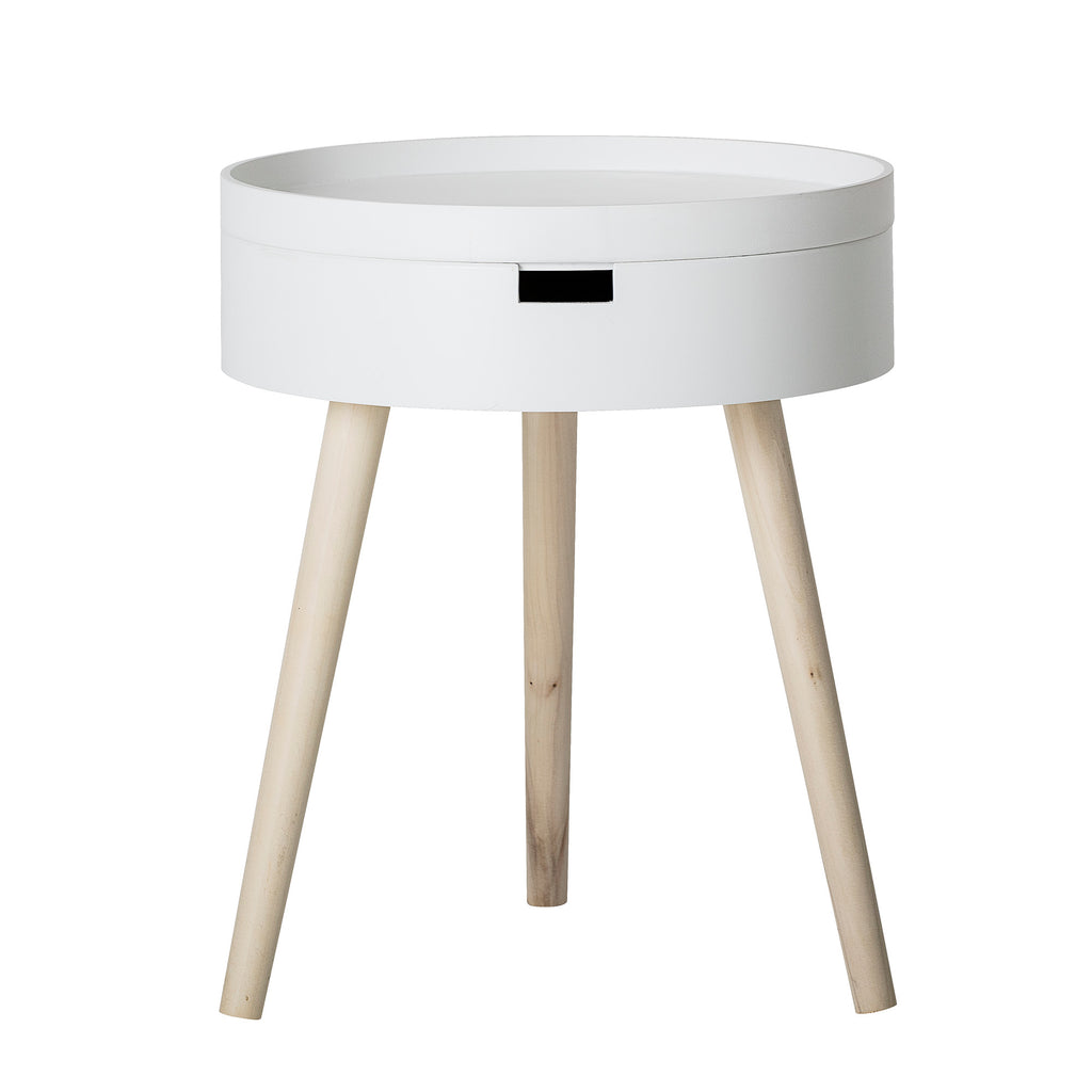 Side Table White & Pine