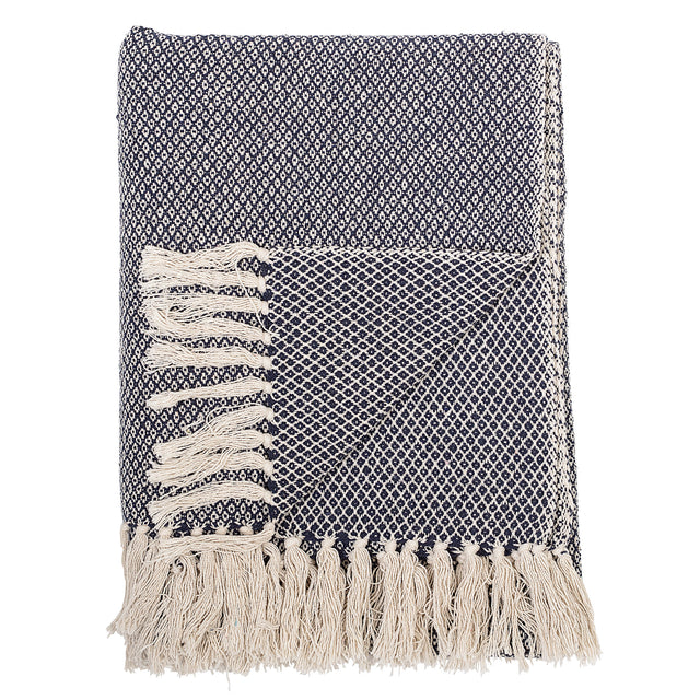 Blue Recycled Cotton Throw