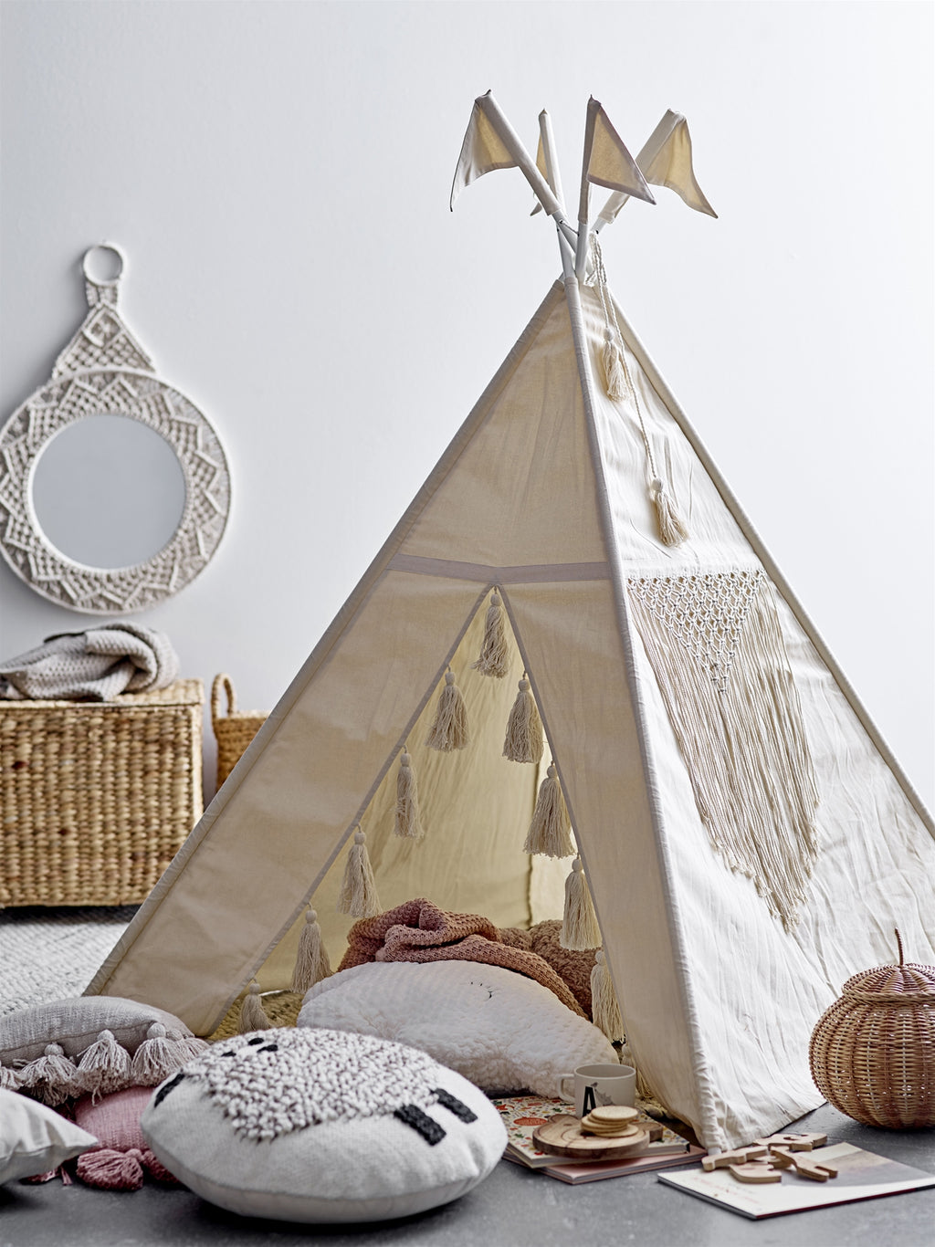Ecru Cotton Kids Teepee , come on let's hang out!