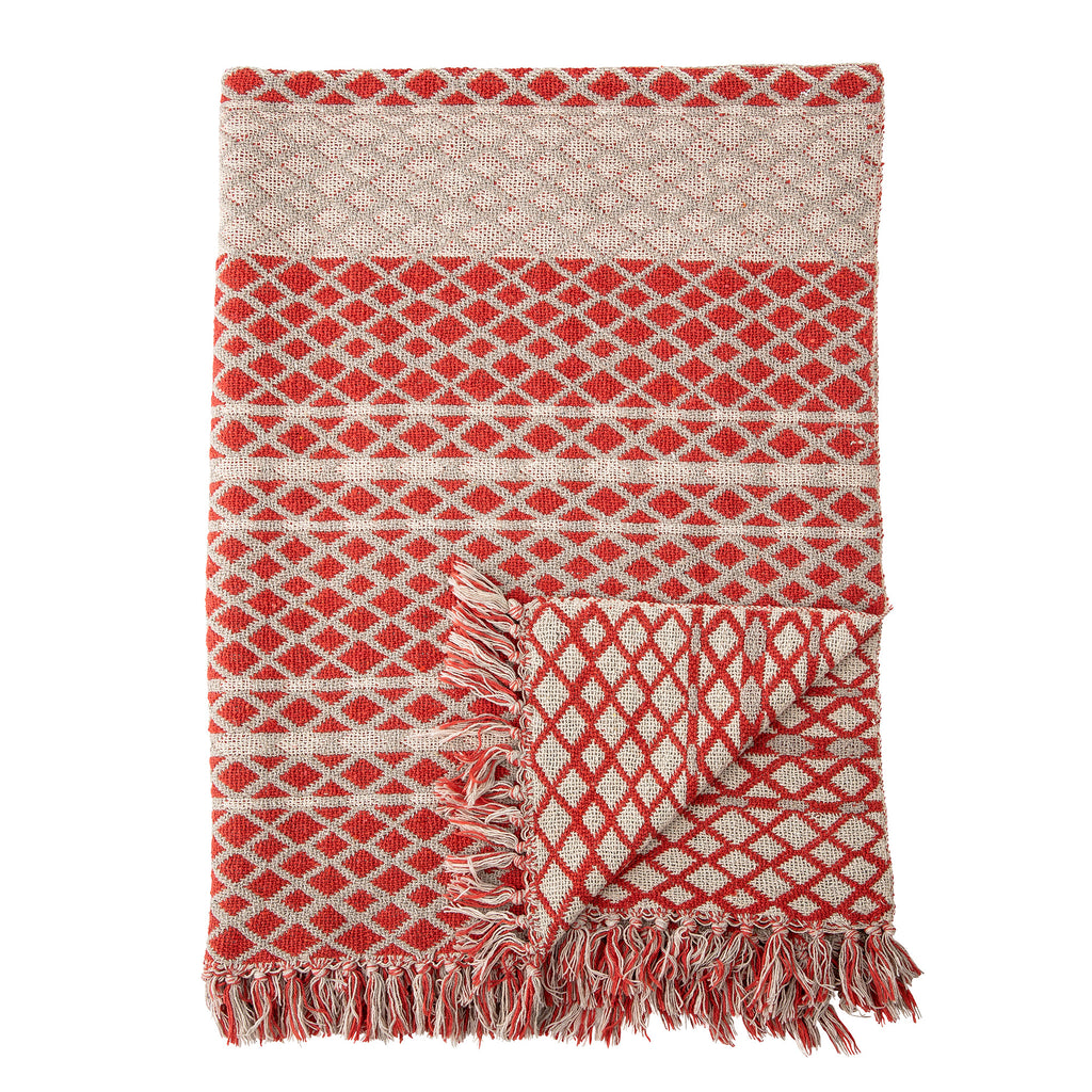 Red Recycled Cotton Throw