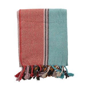 Multi-Colour Recycled Cotton Throw