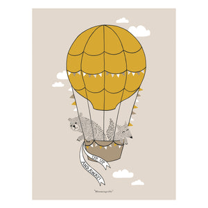 Up & Away Ballon Poster, for those determined to fly having no wings is just a little detail !
