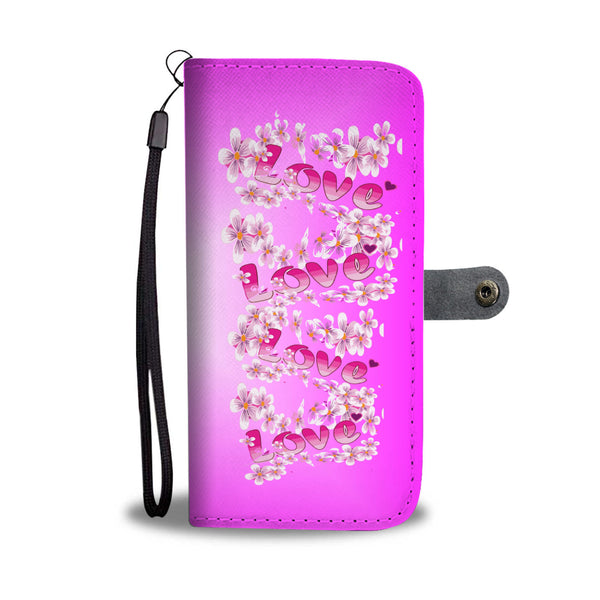 Pink Love phone wallet