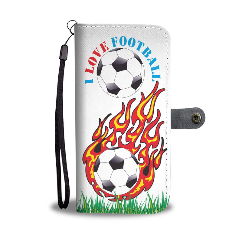 i Love Football phone wallet