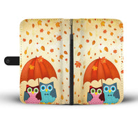 Autumn and Owls Phone wallets