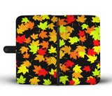 Autum black  phone wallet