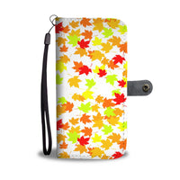 Autumn white phone wallet