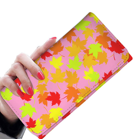 Autum  pink Women's Clutch Purse Wallet