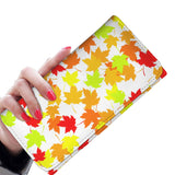 Autum  white Women's Clutch Purse Wallet