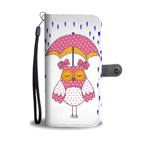 girl  owl under the umbrella