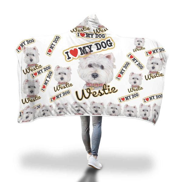 love westie Classic Adult Hooded Blanket