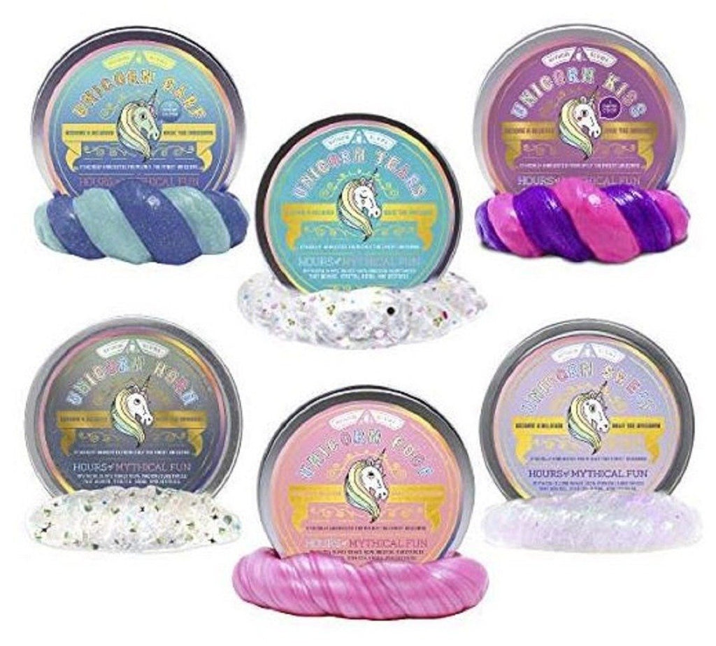 Unicorn Barf, Tears, Kiss, Horn, Poop and Sweat (Small) - 6 Color Set