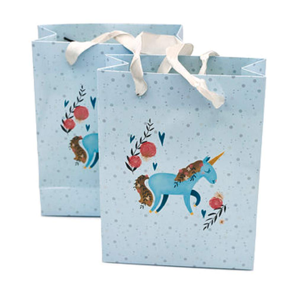 Unicorn Gift Bag - Unicorn Goody Bags Party Supplies - Unicorn Party Favor & Treats Paper Bags - Pack of 12