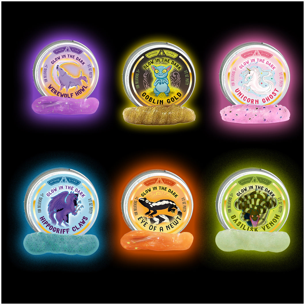Glow in the Dark Fantastic Creatures Gift Set - Mini .5oz