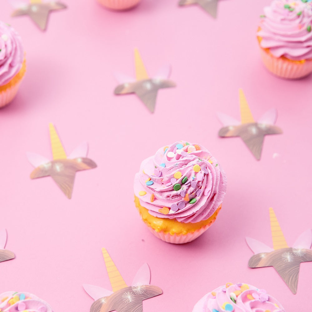 Pink Unicorn Cupcake Decorations - Unicorn Party Supplies - Set of 24 Pieces Cupcake Topper and 24 Pieces Cupcake Wrapper - Good for 24 Cupcakes
