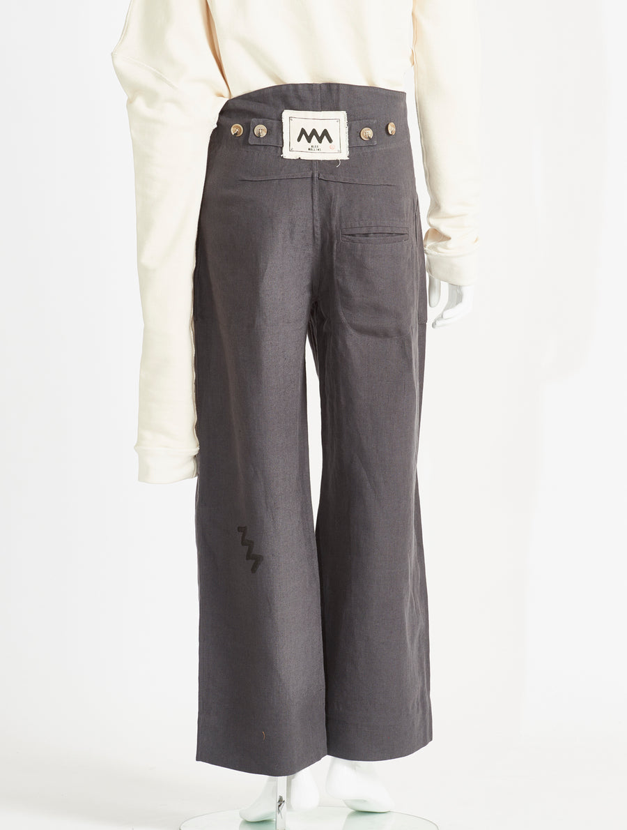 Alex Mullins Linen Pocket Trousers