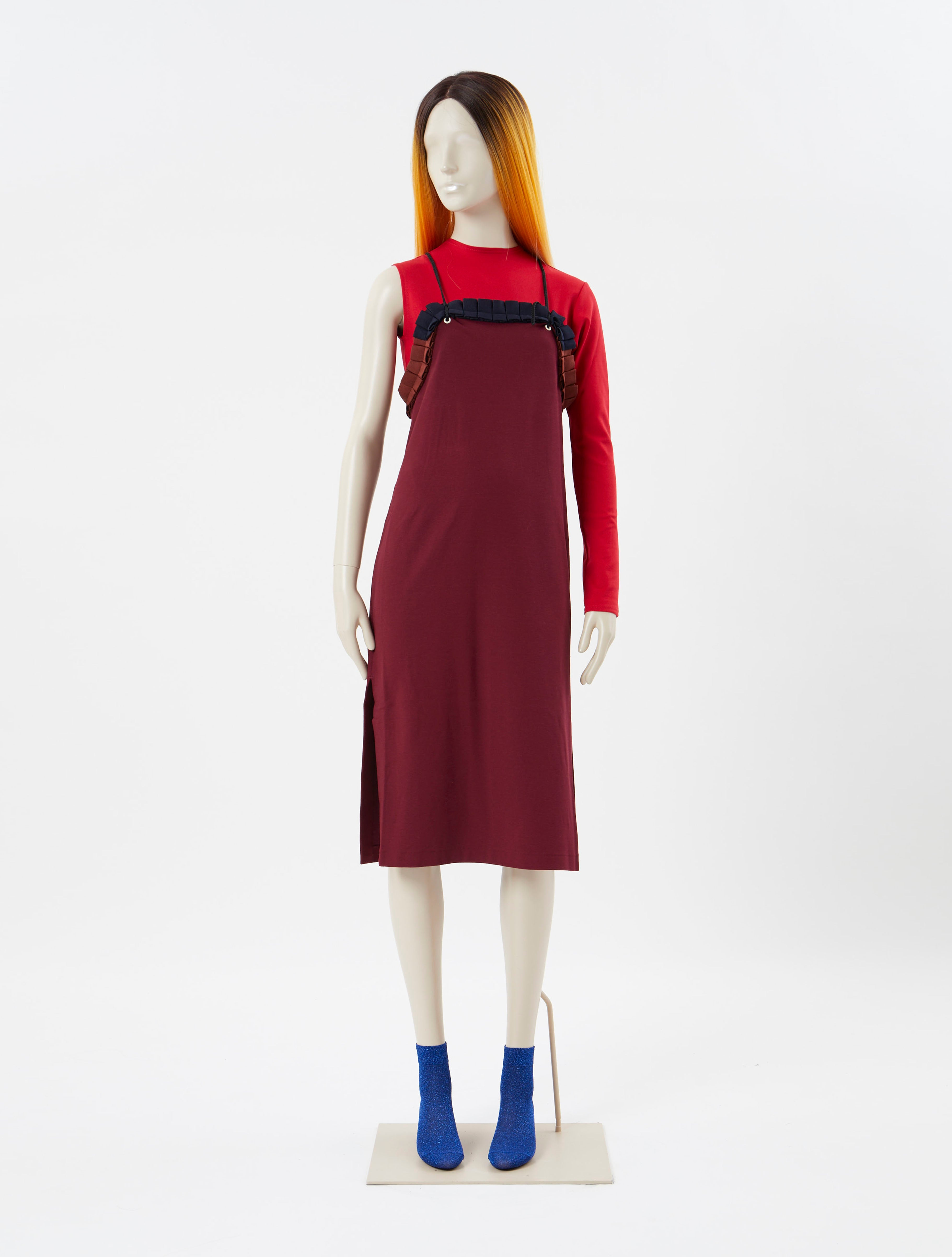 Pearl Jersey Dress Red