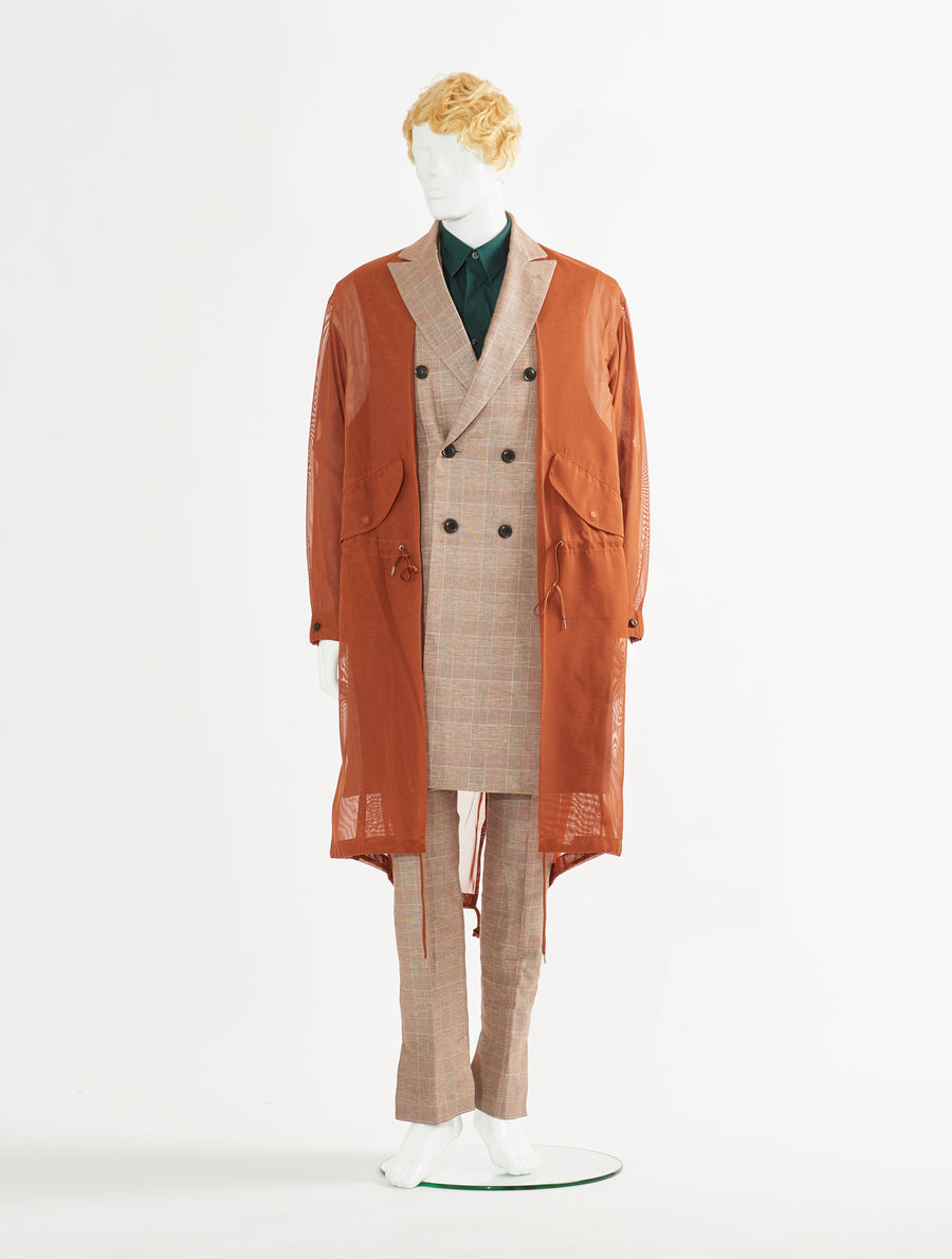 Toga Virilis Brown Cotton Linen Coat