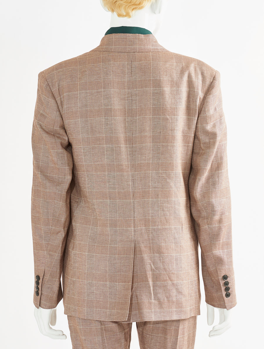 Toga Virilis Brown Cotton Linen Jacket