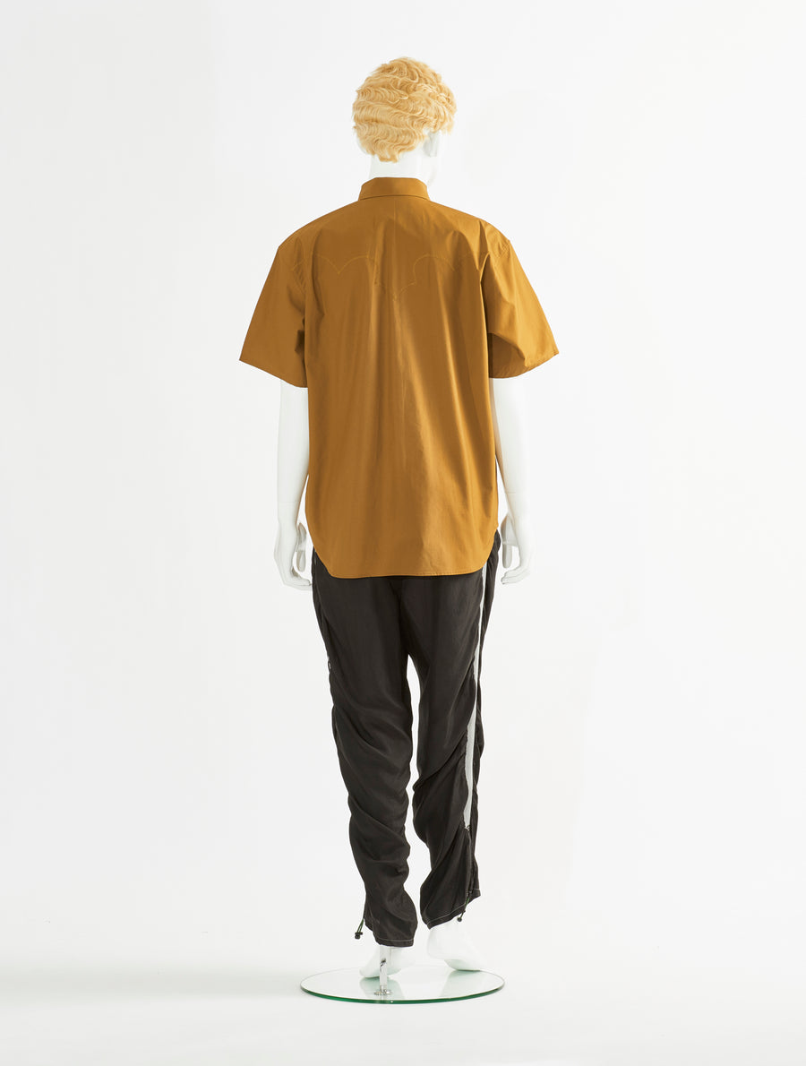 Toga Virilis Camel Cotton Shirt
