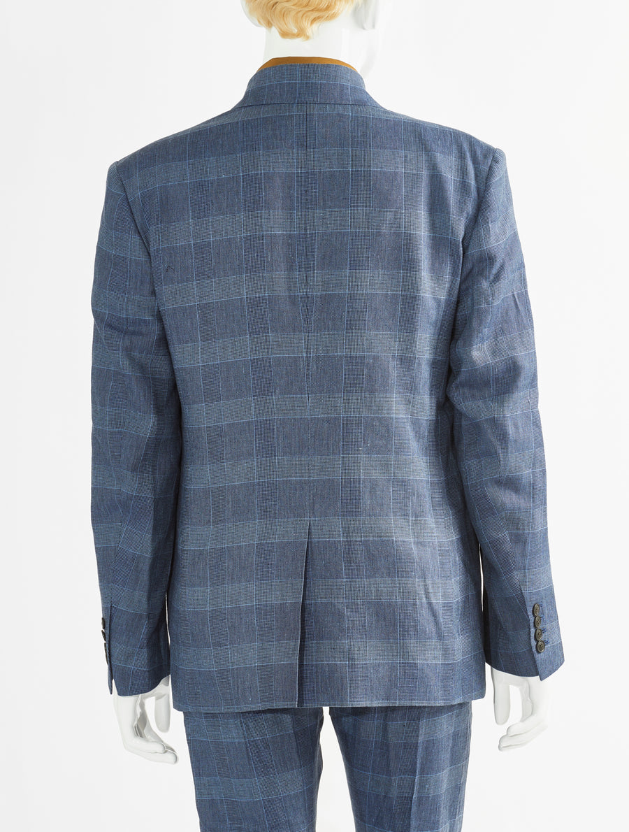 Toga Virilis Blue Cotton Linen Jacket