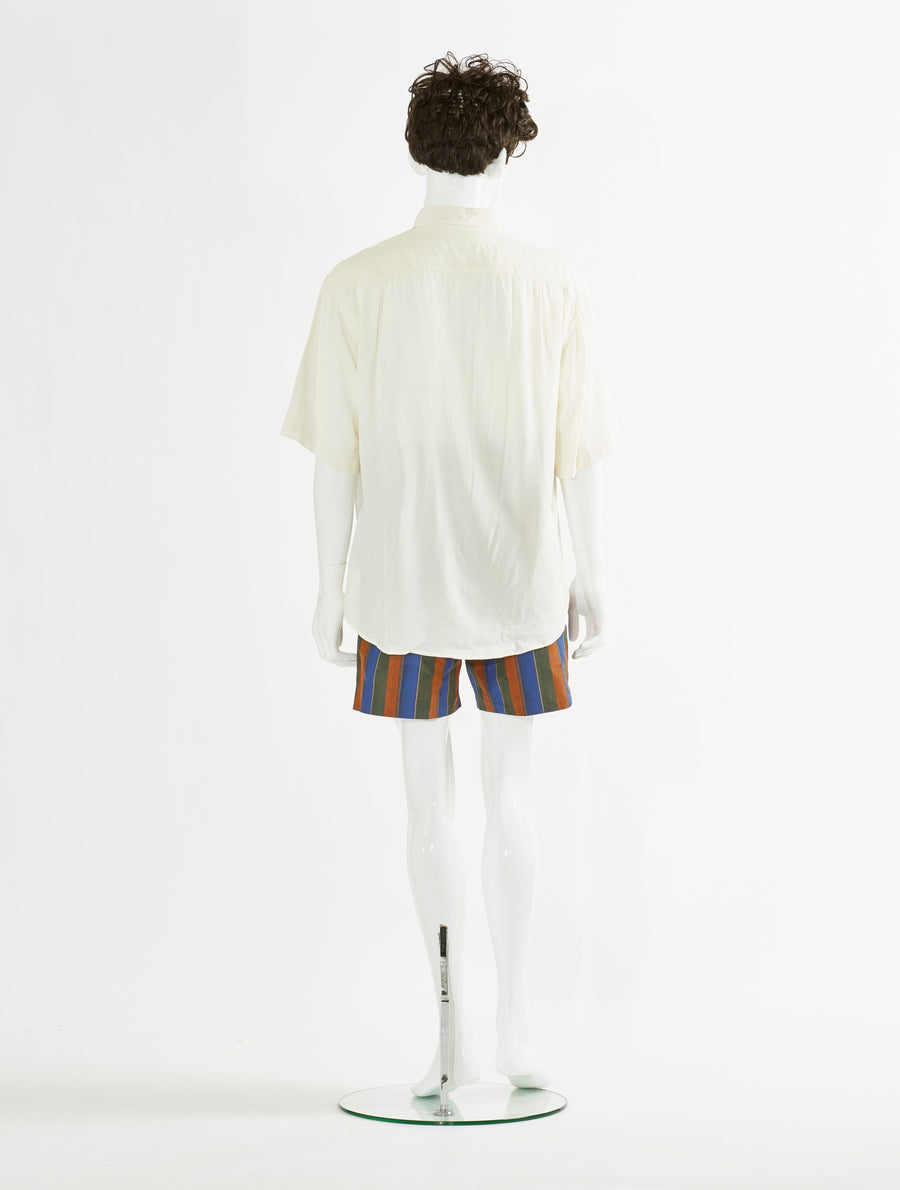 Toga Virilis Off White Embroidery Shirt