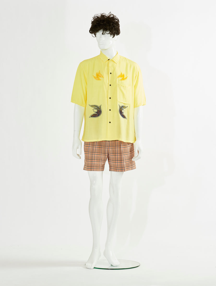 Toga Virilis Yellow Embroidery Shirt