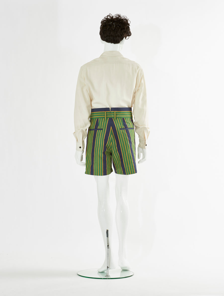 Toga Virilis Green Print Short Pants