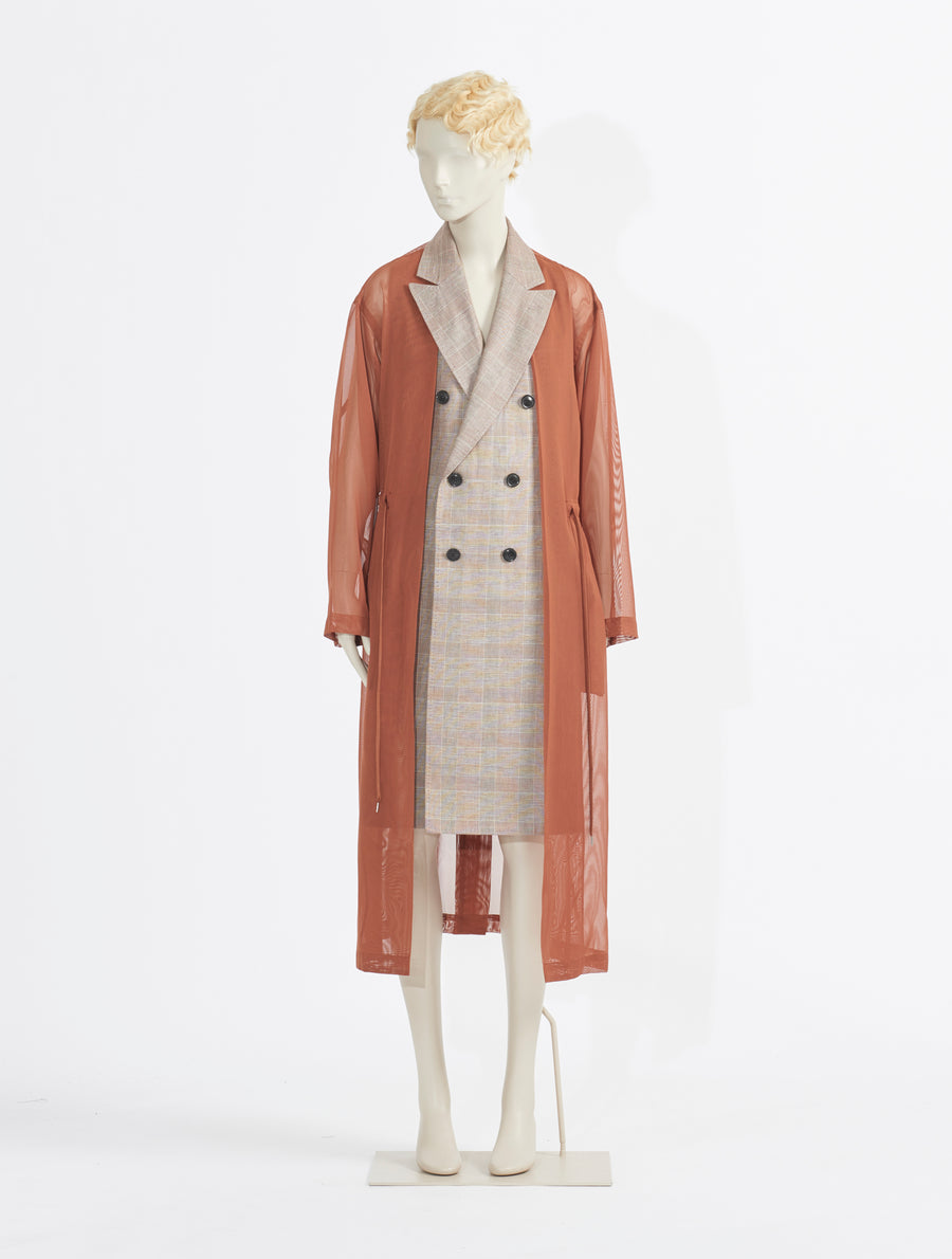 Toga Pulla Polyester Mesh Coat