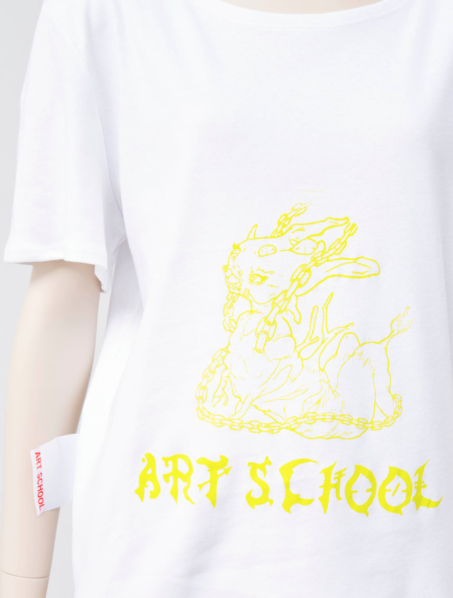 ART SCHOOL T-Shirt Yellow Font
