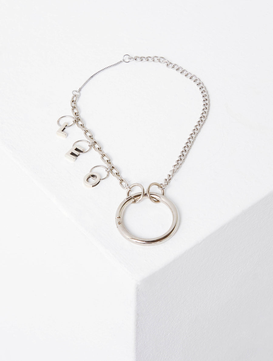 Lēo Munthof Silver With LEO Letters Necklace