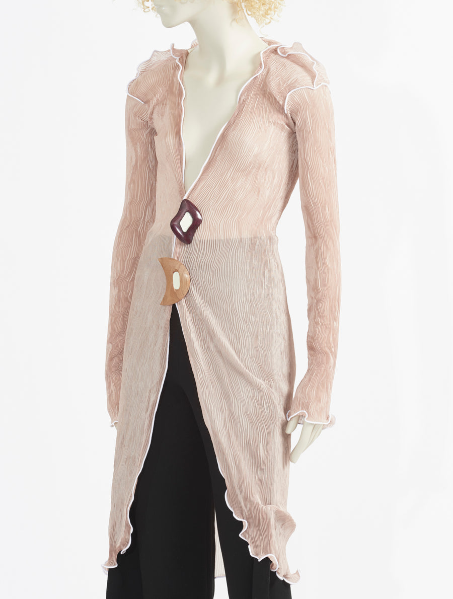 Peet Dullaert Techno-Pleat Farafra Jacket - Warm Sand / White
