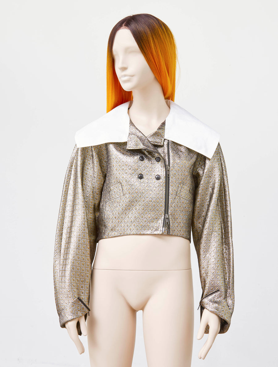 Jenny Fax Metallic Marine Girl Jacket
