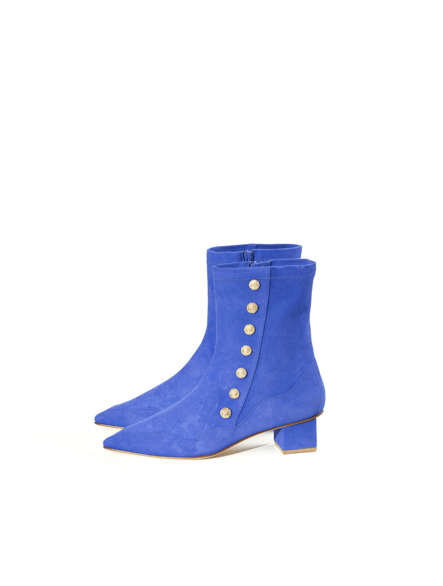 Rue St Kindly Blue Suede Boot