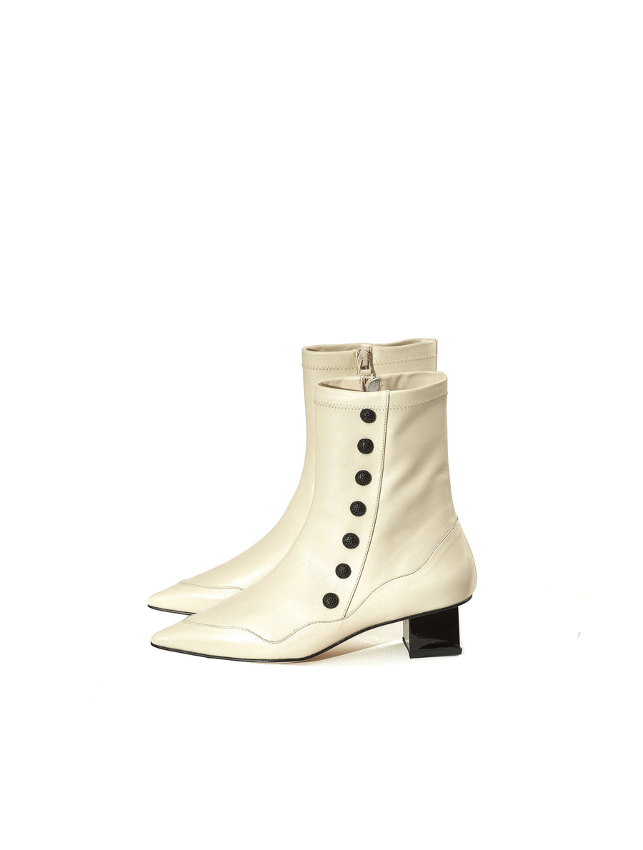 Rue St Kingly Beige Leather Boot